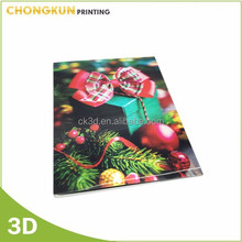 Festival use 3d lenticular greeting card for wholesale