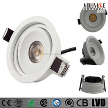 lens and reflector design 7w up and down Adjustable citizen COB 7w LED Down Light/7W 83mm cutout round hotel COB LED downlight