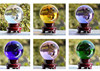 solid colored colorful crystal balls, colour glass crystal ball