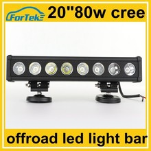 20 inch high power cree automotive led lighting bar 80w combo for offroad driving at night