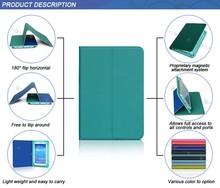 180 degree flip horizontal slim elastic band closure tablet cover contrast colors premium pu leather universal tablet case