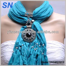 Fashion lady's Christmas Circular Pendant scarf