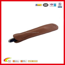 shenzhen weiyiss vintage handmade genuine leather brown single pen and pencil case