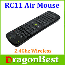 RC11 Air Mouse 3-IN-1 Combo 2.4GHz Wireless Fly Mouse Mini Keyboard for TV Box Mini PC Laptop Tablet