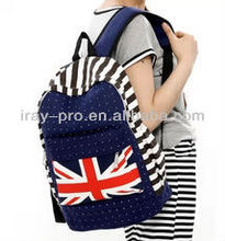 National Flag Pattern Canvas School Bag Wholesale
