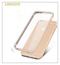Luxury Metal Aluminum Bumper + Plastic 2 in 1 Case
