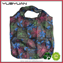 2015 China custom made biggest selling economic practical functional handy new design 190T 600D polyester foldable shopping bag