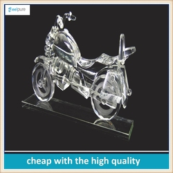 Wholesale High Quality crystal glass motorcycle model ,motorcycle model for souvenir