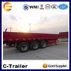 China High Quality 3 Axles 40Tons Cargo Box Trailer to Burundi