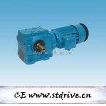 S series helical worm gearbox with solid shaft