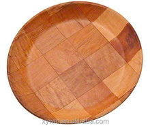 Update International WRP-10 Woven Wood Round Salad Plate, 10-Inch --Jane