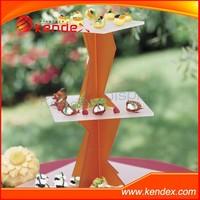 twisted 3 tier acrylic wedding cake stand
