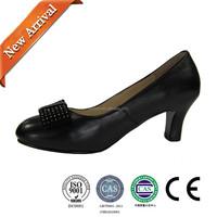 Women black leather shoes/fashion dress shoes/high heel women shoes