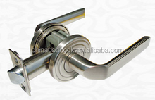 Factory price brass privacy lever door handles for wooden doors L86