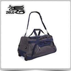 2015 polyester fashionable trolley duffle bags made in China