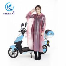 Custom sexy girls clear plastic rain coats