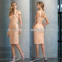 ME-202 Elegant wide shoulder strap mother of the bride jacket dresses tea length dresses with jacket