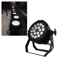 Hot sell!!!!!LED 18*10W(R+G+B+W) Waterproof led shower par light ,LONG lifetime DMX512 , master-slave control, self-propelled