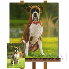 Handmade lovely Pet dog oil painting from photo