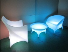 Waterproof led bar chair/ Plastic led chair