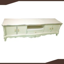 white colour laminate french TV cabinet european style TV cabinet