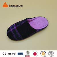 coral velvet print tpr outsole slippers lady simple style cheap wholesale slippers