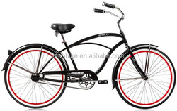 26 INCH MENS BEACH CRUISER BIKE /SINGLE SPEED BICYCLE MALE BEACH CRUISER