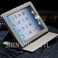 Case for for ipad 4 pu stand leather case