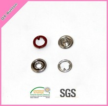 Metal nickel tone Five prong ring snap button
