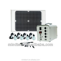hot sale 20w solar panel with 4bulbs lighting kit mini indoor 12v solar led light