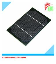 Epoxy resin PET laminated 3V 833mA solar panel