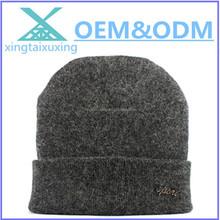 Wholesale custom logo knit wool winter men hat