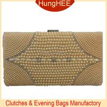 Fashion Ladies Purses pearl beaded clutch evening bag HW-BE1365