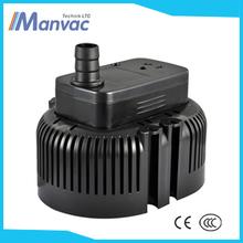 Top calidad 60W HQB-2200 Acuario de plástico negro de la bomba de agua