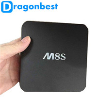 Wholesale Original M8S Android install Kodi Quad core android 4.4 google tv box Amlogic S812 \2.0GHz