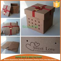 sweet love wedding cake box design cheap price