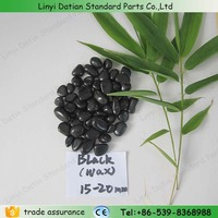 Hot sale 5-50mm black wax pebble stone candle garden decoration