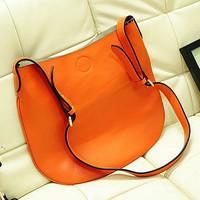 evergreen handbag Classical large leather bag shoulder lady leather bag bi-cabas bag EMG1048