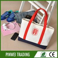 fashion bulk reusable folding designer canvas fabric shopping bags , women fashion printed shopping bag