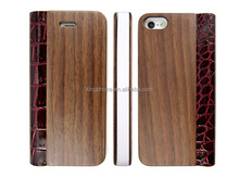 cheap leather phone case wood craft for iphone 5