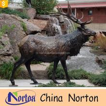 metal cast outdoor antique bronze deer statue NTBA-DE080S