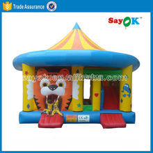 Cheap tiger inflatable bouncer with slide for sale