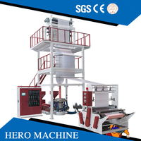HERO High Speed ABA 3 2 Layer Mini HDPE LDPE PE Blown Film Extruder Agriculture Polyethylene Plastic Film Blowing Machine Price