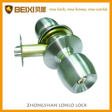High quality stainless steel SS finish cylindrical entrance knob lock
