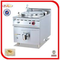 80L Multifunction Kitchen Kettle Gas Tilting Braising Pan GH-980