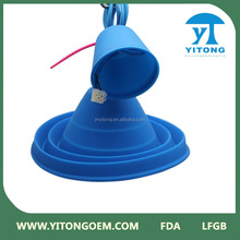 Blue Color Simple silicone pendant lighting lamp covers/ Silicone Material Incandescent Bulb Lamp Plastic Bulb Light