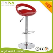 Swivel plastic bar stool color adjustable height metal circle seat chair