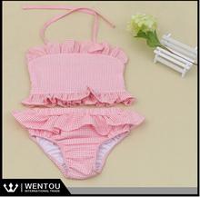 dos piezas la colmena Chica joven linda bikini niños Trajes de baño con flotabilidad