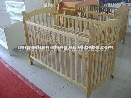 Wood baby cribs with wheels buy baby crib baby cribs for Baby bed with wheels
