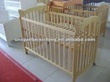 wood baby Cribs with wheels